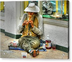 Flute Player Acrylic Print by David Mcchesney