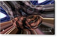 Fluttering Pjs Acrylic Print by Ron Bissett