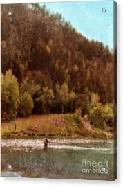 Fly Fishing Acrylic Print by Jill Battaglia