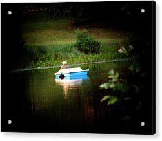Fly Fishing Acrylic Print by Michael L Kimble