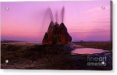 Fly Geyser Sunset 4 Acrylic Print by Bob Christopher