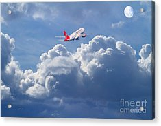 Fly Me To The Moon Acrylic Print by Wingsdomain Art and Photography