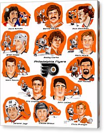 Flyer Greats In Color Acrylic Print by Chris  DelVecchio