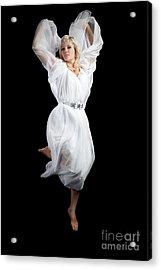 Flying Angel Acrylic Print by Cindy Singleton