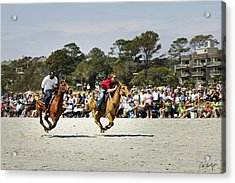 Flying At The Marsh Tacky Races Acrylic Print by Phill Doherty