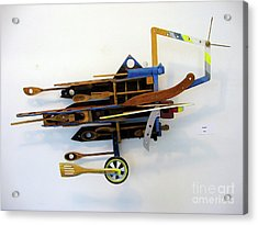 Acrylic Print featuring the sculpture Flying by Bill Thomson