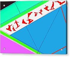 Flying Boards Acrylic Print by Naxart Studio