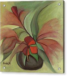 Flying Flowers Acrylic Print by Rachel Hershkovitz