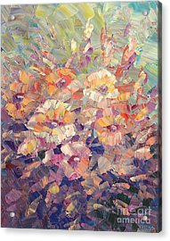 Acrylic Print featuring the painting Flying Glory by Tatiana Iliina