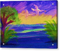 Flying Home Acrylic Print by Anna Lewis
