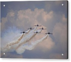 Flying In Formation Acrylic Print by Julia Wilcox