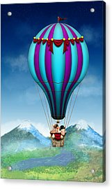 Flying Pig - Balloon - Up Up And Away Acrylic Print by Mike Savad