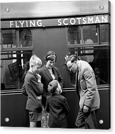 Flying Scotsman Acrylic Print by John Drysdale