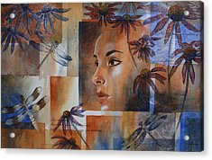 Flying Woman Acrylic Print