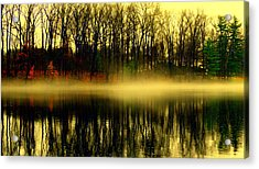 Fog At  Farrington Lake Acrylic Print