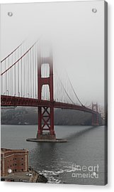 Fog At The San Francisco Golden Gate Bridge - 5d18869 Acrylic Print by Wingsdomain Art and Photography