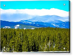 Acrylic Print featuring the photograph Fog In The Rockies by Shannon Harrington