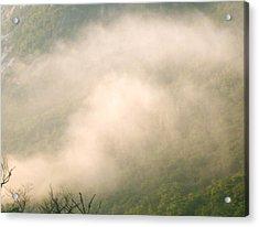 Fog Over Franconia Notch  Acrylic Print by Gloria Warren