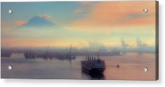 Fog Over The Tide Flats Acrylic Print by David Patterson