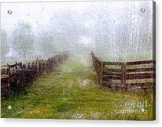 Foggy Fence Acrylic Print