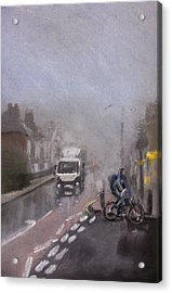 Foggy Herne Bay 2 Acrylic Print by Paul Mitchell