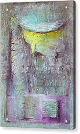 Acrylic Print featuring the painting Foggy Land by Lolita Bronzini