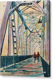 Foggy Morning On The Railway Bridge IIi Acrylic Print