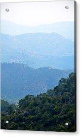 Foggy Mountain Layers Acrylic Print
