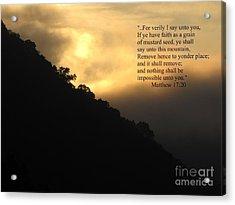 Foggy Mountain Sunrise 2 Acrylic Print