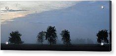 Foggy Pennsylvania Treeline Acrylic Print