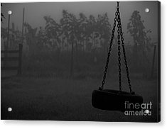 Acrylic Print featuring the photograph Foggy Playground by Cheryl Baxter