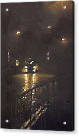 Foggy Street 4 Acrylic Print by Paul Mitchell