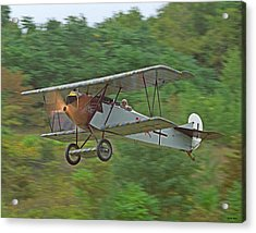 Fokker Dvii 01 Acrylic Print by Jeff Stallard