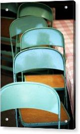 Folding Chairs Acrylic Print