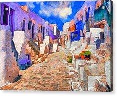 Folegandros Acrylic Print by George Rossidis