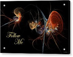 Acrylic Print featuring the digital art Follow Me by Kim Redd
