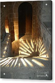 Follow The Light-stairs Acrylic Print