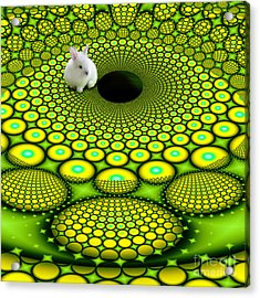 Follow The White Rabbit Acrylic Print