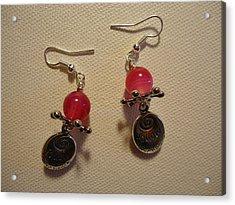 Follow Your Heart Pink Earrings Acrylic Print