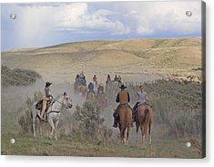 Following The Herd Acrylic Print by Judy Deist