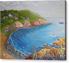 Folly Cove Landing Gloucester Ma Acrylic Print