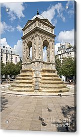 Fontaine Des Innocents I Acrylic Print by Fabrizio Ruggeri