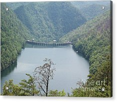 Acrylic Print featuring the photograph Fontana Dam by Janice Spivey