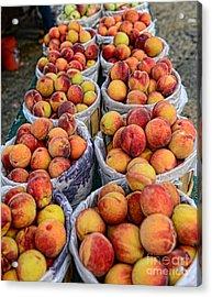 Food - Harvested Peaches Acrylic Print by Paul Ward