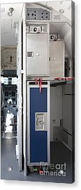 Food Compartment On An Airplane Acrylic Print by Jaak Nilson