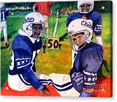 Football Buddies Acrylic Print