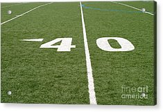Acrylic Print featuring the photograph Football Field Forty by Henrik Lehnerer