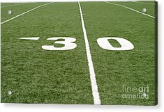 Acrylic Print featuring the photograph Football Field Thirty by Henrik Lehnerer