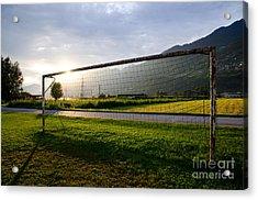 Football Goal Acrylic Print by Mats Silvan