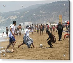Football In Morocco Acrylic Print
